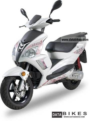 2011 Adly  GTA moto Blizzard 50 sports scooter pink and white Motorcycle Scooter photo