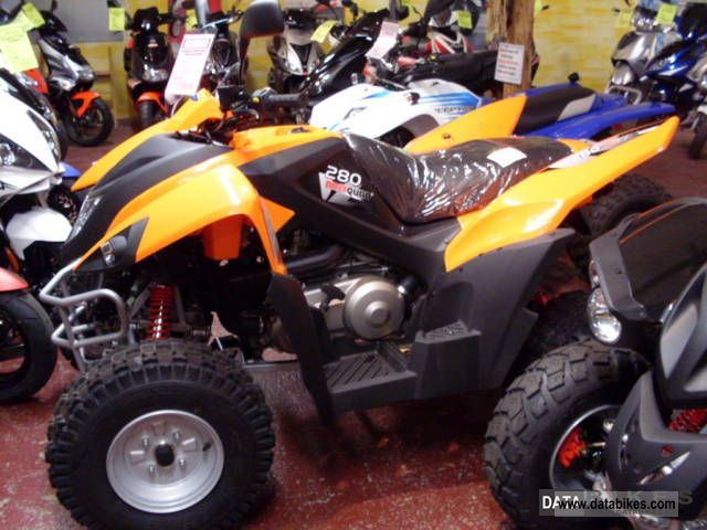 2011 Adly  Hurricane 280 in Orange Motorcycle Quad photo