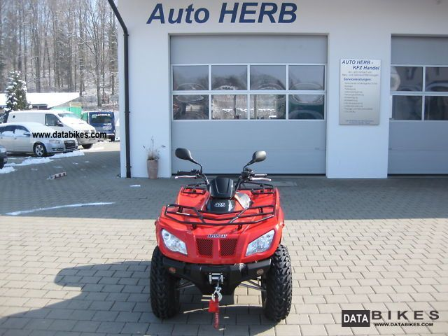 2011 Arctic Cat  425 i 4x4 + automatic + towbar + Seiwinde Motorcycle Quad photo