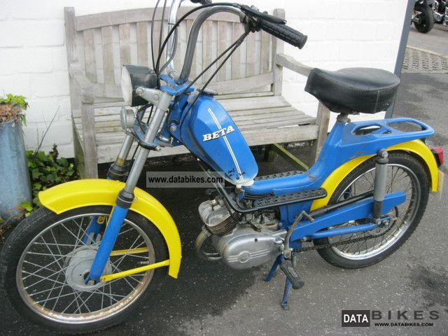 1980 Beta  50 3Speed moped Motorcycle Motor-assisted Bicycle/Small Moped photo