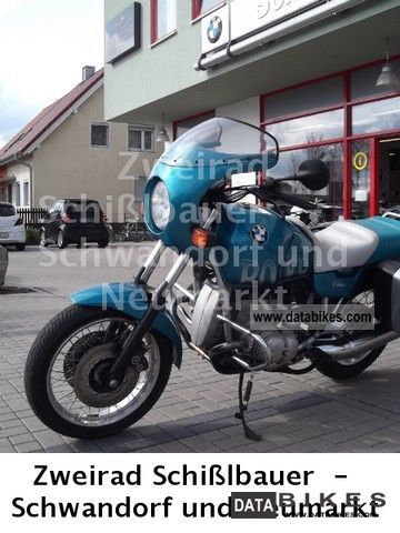 1994 BMW  R 80, R m. Cases are only 23,715 km Motorcycle Motorcycle photo