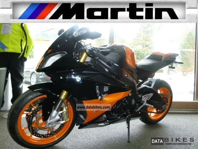 2010 BMW  S 1000 RR Martin Edition Black-Orange Motorcycle Sports/Super Sports Bike photo