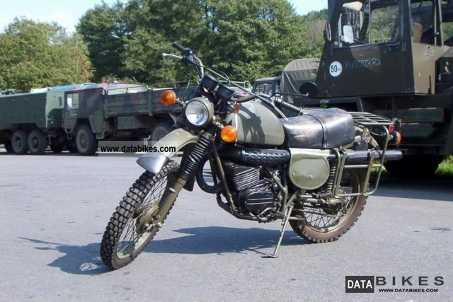 1982 Bombardier  250 military sites Motorcycle Rally/Cross photo