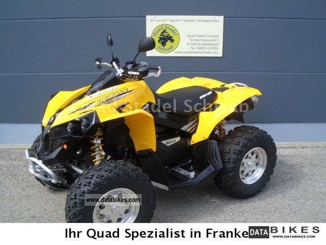 2007 Can Am  renegade 800 Motorcycle Quad photo