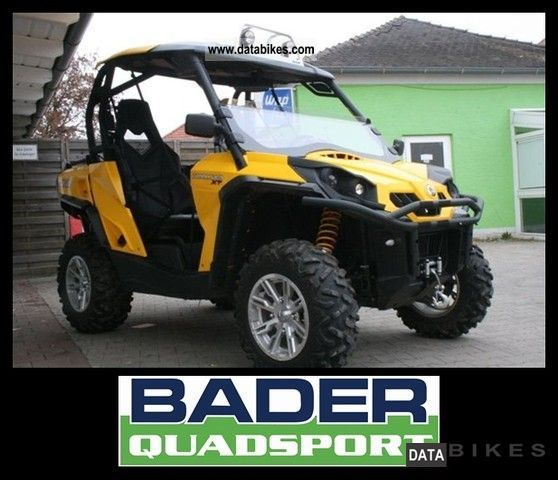 Can Am  COMMANDER 1000 XT LOF * TOURING PACKAGE & SCREEN 2011 Quad photo
