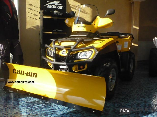 2011 Can Am  BRP Outlander 500 EFI XT with snow plow Motorcycle Quad photo