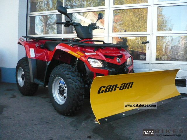 2011 Can Am  BRP Outlander 400 EFI with snow plow Motorcycle Quad photo