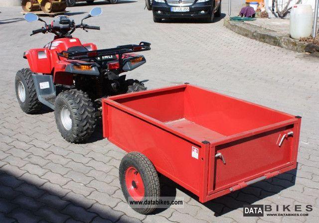 2003 Dinli Helix DL 603 quad with trailer