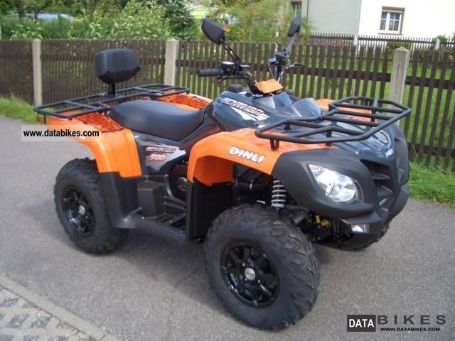 Dinli  Centhor 700 with winch and snow plow 2011 Quad photo