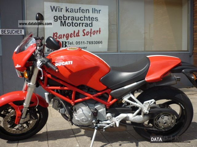 2008 Ducati  Monster S2R 1000 tires neuw 1Hd. Red Dragon Motorcycle Naked Bike photo