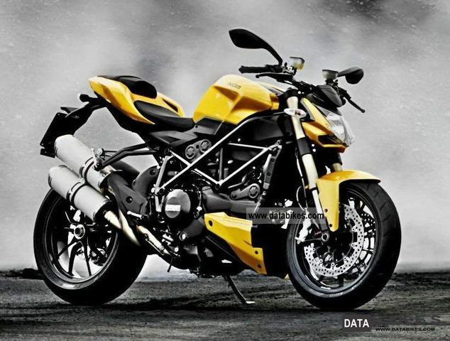 2011 Ducati  Street Fighter 848, Yellow In Stock Red / / Motorcycle Naked Bike photo
