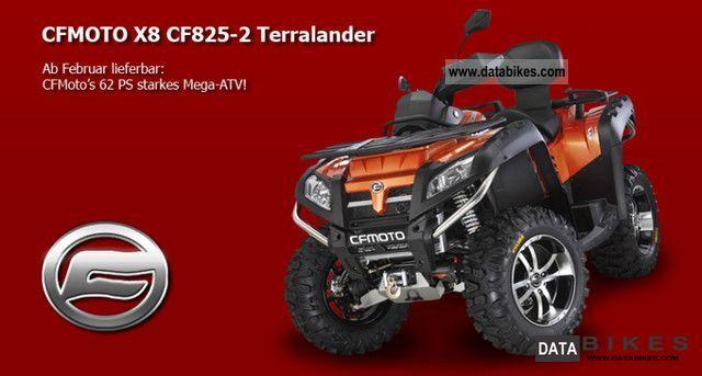 2011 Explorer  Terra CF Moto 800 V-Twin EFI Lander 4x4 Motorcycle Quad photo