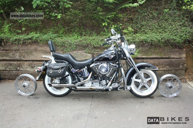 1995 Harley Davidson  FLSTN Softail Heritage Nostalgia Motorcycle Chopper/Cruiser photo