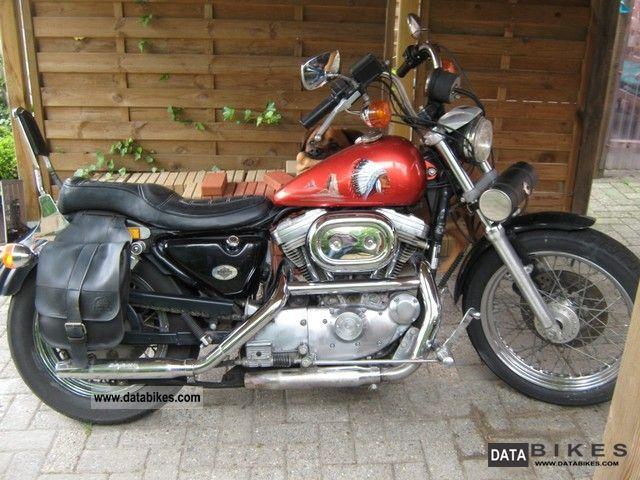 1992 Harley Davidson Sportster 883 XL2 Huger Motorcycle Chopper Cruiser Photo