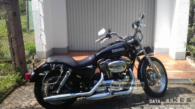 2009 Harley Davidson  XL1200L Sportster 1200 Low Vivid Black Motorcycle Chopper/Cruiser photo