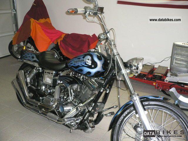 1993 Harley Davidson  Dyna Wide Glide FXDWG Motorcycle Chopper/Cruiser photo