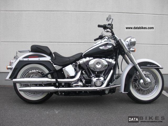 2010 Harley Davidson  FLSTN Softail Deluxe * Black & White * TOP Motorcycle Chopper/Cruiser photo