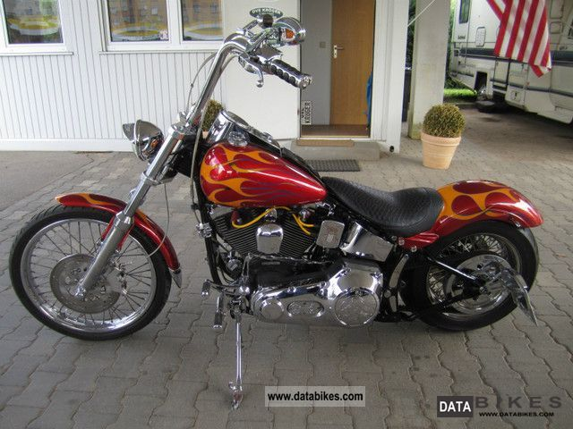 1996 Harley Davidson  FXST Softail Custom EVO Wide Tire Apehanger Motorcycle Chopper/Cruiser photo