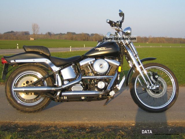1989 Harley Davidson  FXST Motorcycle Chopper/Cruiser photo