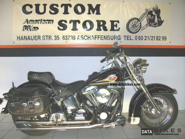 1997 Harley Davidson  Evo Softail Heritage Classic black and chrome Motorcycle Chopper/Cruiser photo