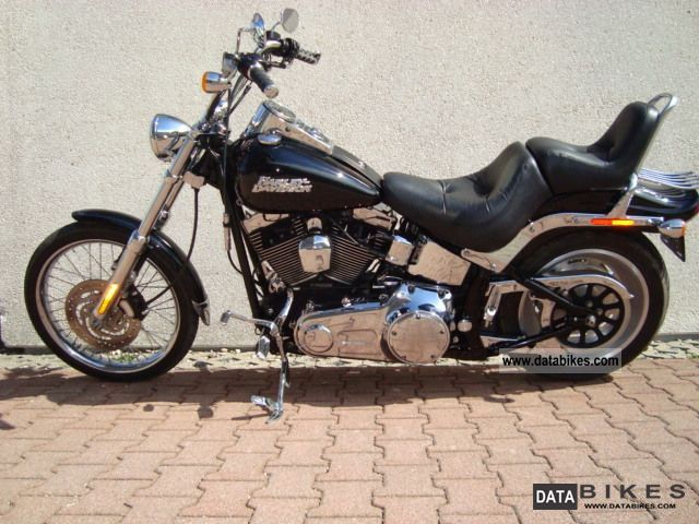 2007 Harley Davidson  Softail Custom Black Injection Motorcycle Chopper/Cruiser photo