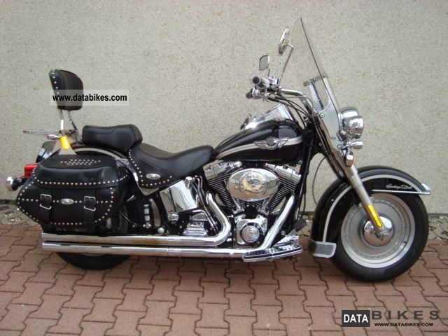 2003 Harley Davidson  Heritage Anniversary Black Injection Motorcycle Chopper/Cruiser photo