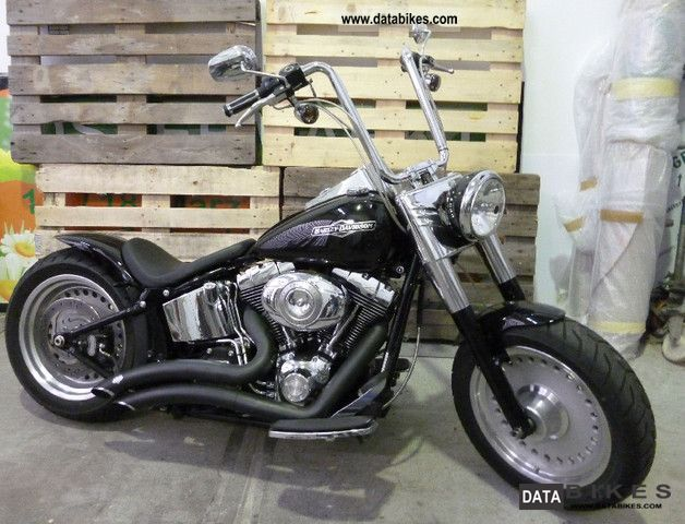2009 Harley Davidson  FatBoy FLSTF Fat Boy customized Bobber Motorcycle Chopper/Cruiser photo