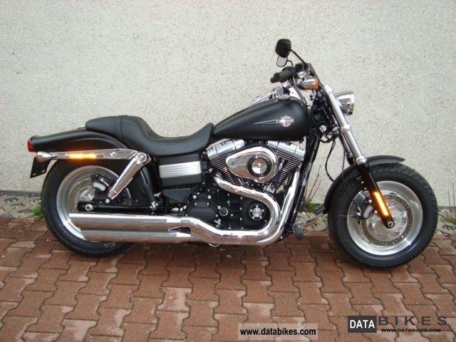 2011 Harley Davidson  Dyna Fat Bob ABS matt black Motorcycle Chopper/Cruiser photo