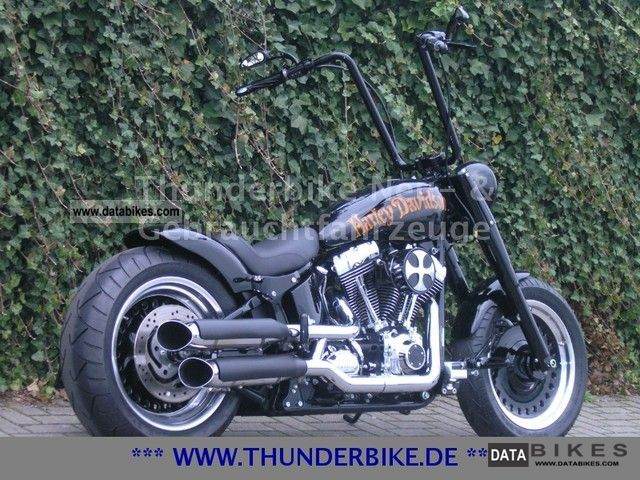 2007 Harley Davidson  FLSTF Softail Fat Boy Thunder Bike Conversion Motorcycle Chopper/Cruiser photo