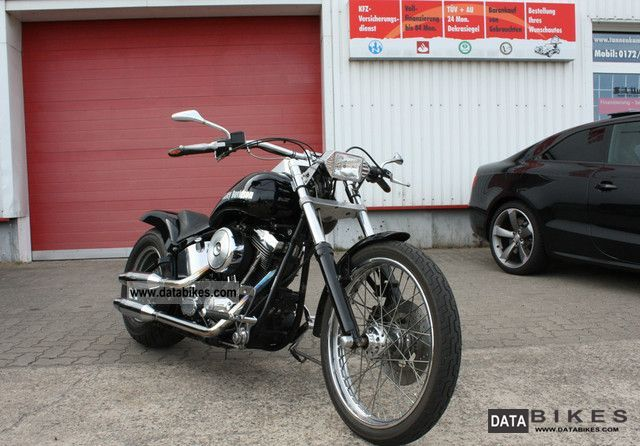 1999 Harley Davidson  HD FXST Softail Custome Dt. Bike Motorcycle Chopper/Cruiser photo