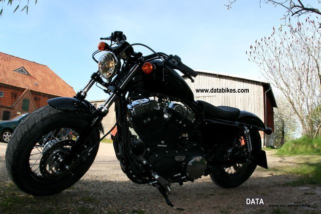 2012 Harley Davidson  Sportster Forty-Eight (tank complete. Black) Motorcycle Motorcycle photo