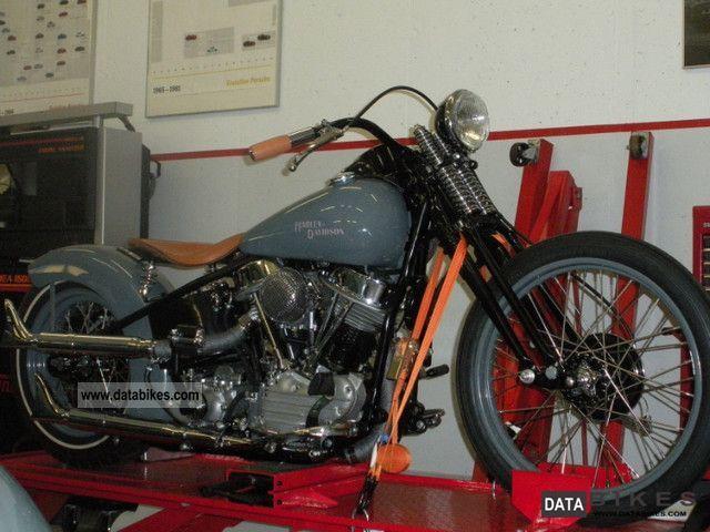 1952 Harley Davidson  Panhead Motorcycle Chopper/Cruiser photo