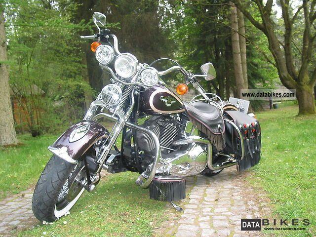 1999 Harley Davidson  95th Anniversary Heritage Springer Motorcycle Tourer photo
