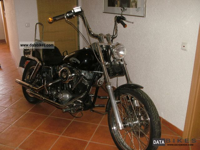 1984 Harley Davidson  Shovelhead FXWG Motorcycle Chopper/Cruiser photo