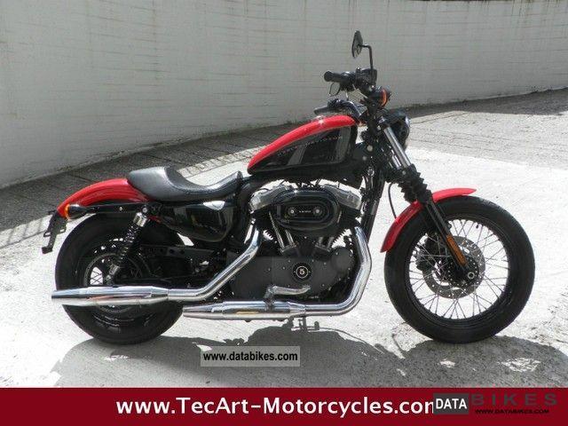 2009 Harley Davidson  2010s Sportster 1200N NIGHTSTER black and red Motorcycle Chopper/Cruiser photo
