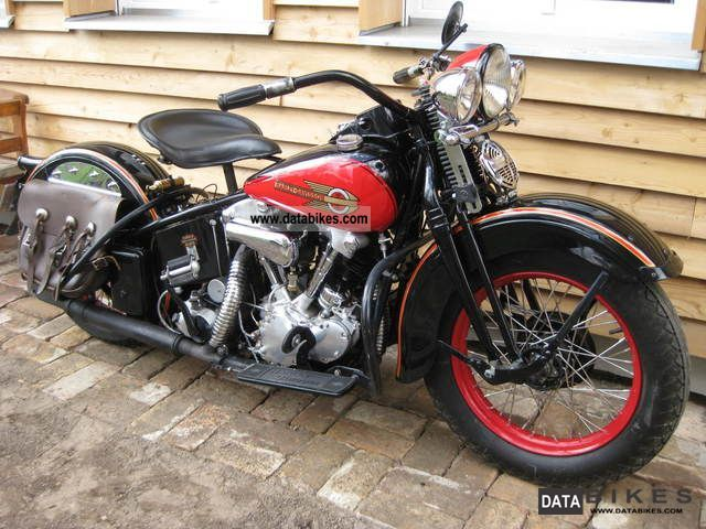 Harley Davidson  Knucklehead EL vintage 1937!! 1937 Vintage, Classic and Old Bikes photo