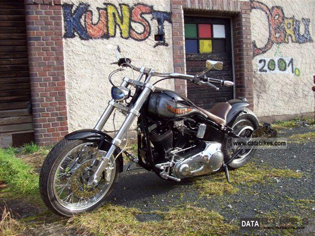 1999 Harley Davidson  FXST Motorcycle Chopper/Cruiser photo