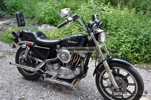 1979 Harley Davidson 1000 Sportster Ironhead Sporty New Technical Approval Motorcycle Chopper Cruiser Photo