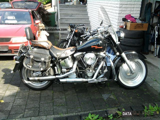 1991 Harley Davidson  FLSTF Fat Boy Motorcycle Chopper/Cruiser photo