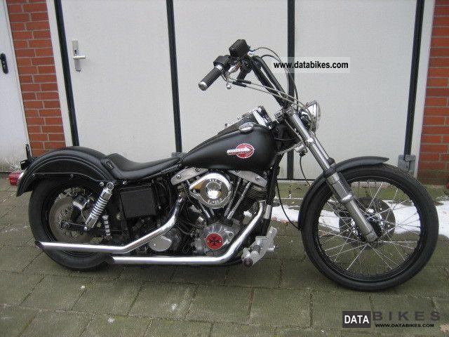 1984 Harley Davidson  FXWG Late Shovel \ Motorcycle Chopper/Cruiser photo