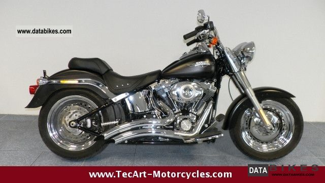 2010 Harley Davidson  Softail FATBOY FAT BOY 2010s-BLACK Motorcycle Chopper/Cruiser photo