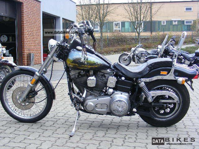 1985 Harley Davidson  FXWG Wide Glide Motorcycle Chopper/Cruiser photo