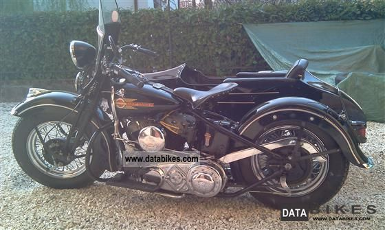 Harley Davidson  flathead ul le sidecar 1937 1937 Vintage, Classic and Old Bikes photo