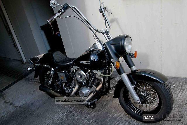 1980 Harley Davidson  FLH Motorcycle Chopper/Cruiser photo