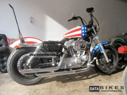 2003 Harley Davidson  XLH 883 Sportster Easy Rider Captain Am. Women Motorcycle Chopper/Cruiser photo