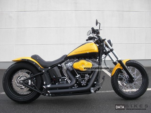 2011 Harley Davidson  FXS * Bumblebee * 'Black Line Custom Bike Farm' Motorcycle Chopper/Cruiser photo