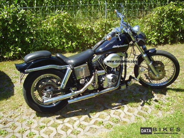 1980 Harley Davidson  HD FXWG Motorcycle Chopper/Cruiser photo