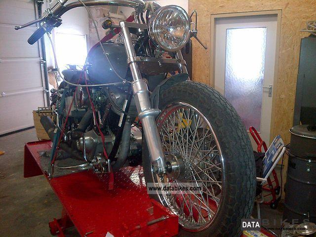 1976 Harley Davidson  FLH Shovelhead Bobber Old Scool 100dB Motorcycle Chopper/Cruiser photo