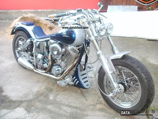 1980 Harley Davidson  FLH - Conversion of S and S EVO engine for Drag Bike Motorcycle Chopper/Cruiser photo