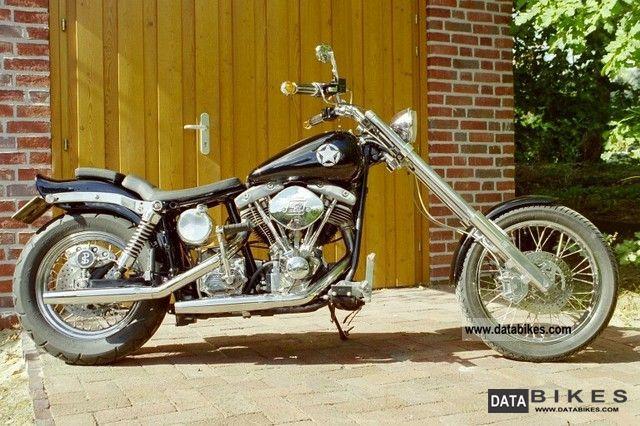 1980 Harley Davidson  FXS Custom Bike Motorcycle Chopper/Cruiser photo